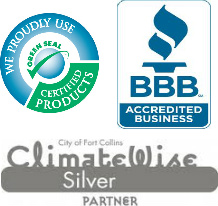 Certification seals for Green Clean Colorado | Fort Collins, Colorado