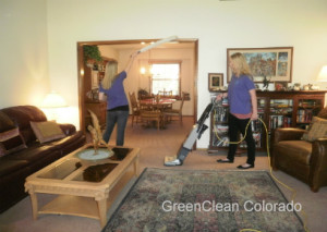 Living Room Safe Cleaning in Fort Collins Colorado by GreenClean Colorado